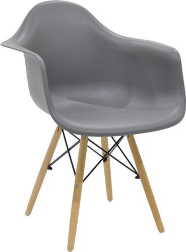 ΚαρέκλαPakoworldΠολυθρόνα Julita πολυπροπυλενίου χρώμα γκρι