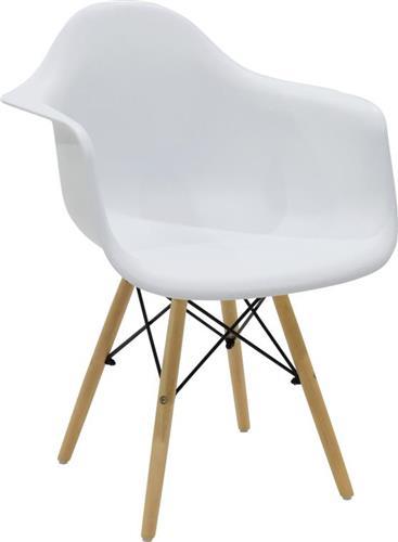 ΚαρέκλαPakoworldΠολυθρόνα Julita πολυπροπυλενίου λευκό