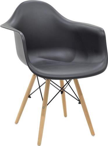 ΚαρέκλαPakoworldΠολυθρόνα Julita πολυπροπυλενίου μαύρο