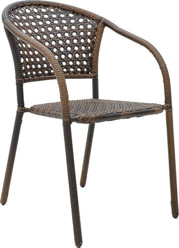 Καρέκλες Εξωτερικού ΧώρουPakoworldArtemis Μεταλλική- Wicker Cappucino