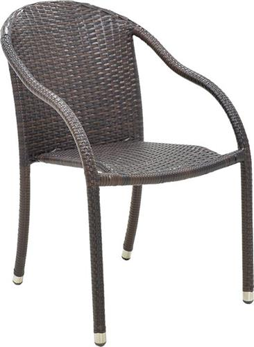 Καρέκλες Εξωτερικού ΧώρουPakoworldNora Μεταλλική-Wicker Cappuccino