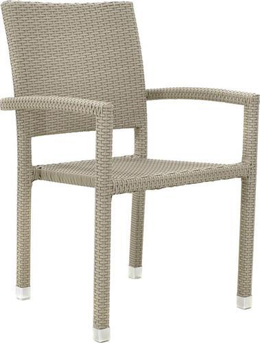Καρέκλες Εξωτερικού ΧώρουPakoworldRenata Αλουμινίου-Wicker Λευκό Πάγου