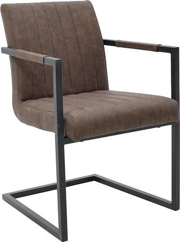 ΚαρέκλαPakoworldΠολυθρόνα MORGAN Δερματίνη antique brown