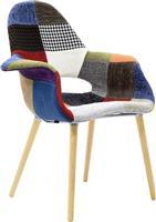 Pakoworld Πολυθρόνα Nerit ύφασαμα patchwork