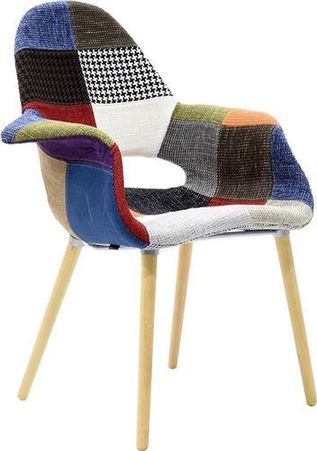 ΚαρέκλαPakoworldΠολυθρόνα Nerit ύφασαμα patchwork