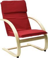 Pakoworld Πολυθρόνα Rena υφασμάτινη κόκκινο