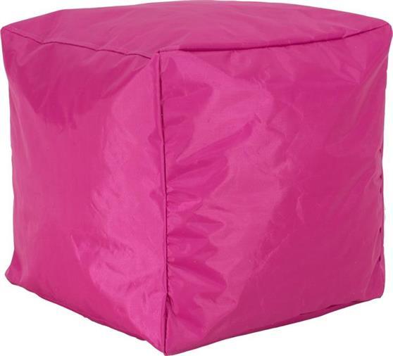 ΠουφPakoworldCube με Φούξια-Ροζ Αποσπώμενο Αδιάβροχο Κάλυμμα Σκαμπώ
