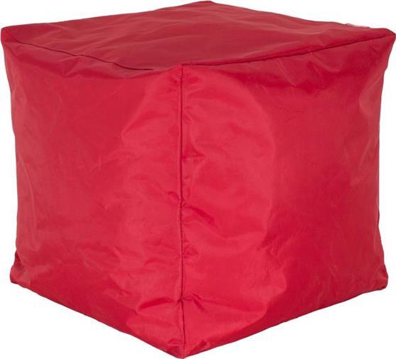ΠουφPakoworldCube με Κόκκινο Αποσπώμενο Αδιάβροχο Κάλυμμα Σκαμπώ