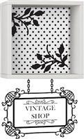 Pakoworld Vintage λευκό με αυτοκόλλητο 34x20x34
