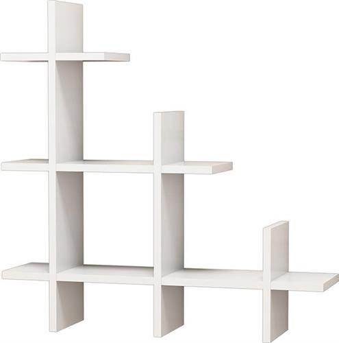 Ραφιέρες τοίχου & ΡάφιαPakoworld3 Gen Wall λευκή 80x18x80