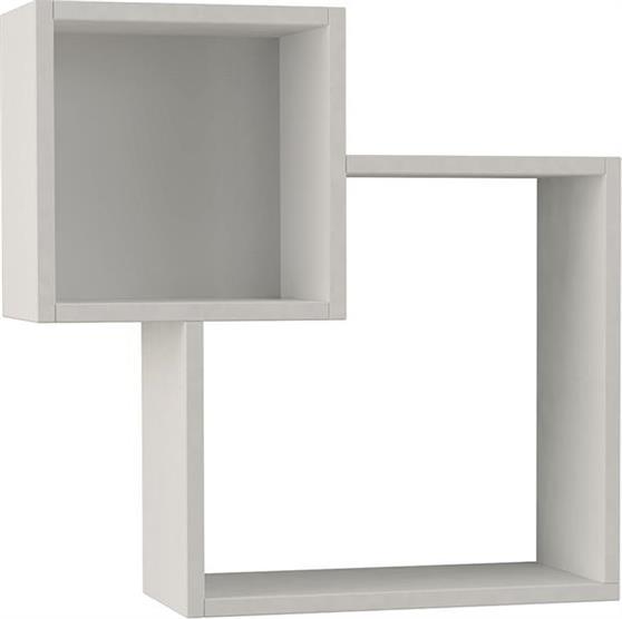 Ραφιέρες τοίχου & ΡάφιαPakoworldDiamond Λευκό 57,5x20x57,5