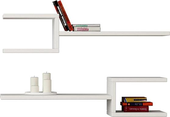 Ραφιέρες τοίχου & ΡάφιαPakoworldFork λευκό 75x22x17,5εκ