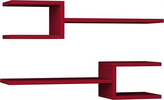 Ραφιέρες τοίχου & ΡάφιαPakoworldFork Σκούρο Κόκκινο 75x22x17,5 2 τμχ