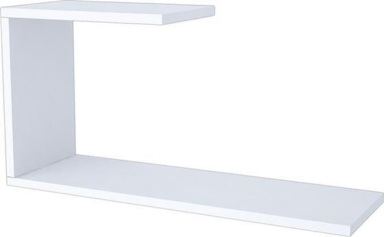 Ραφιέρες τοίχου & ΡάφιαPakoworldJ λευκή 60x20x27εκ