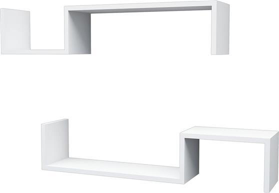 Ραφιέρες τοίχου & ΡάφιαPakoworldLiatris λευκή 96x19,5x19,5εκ