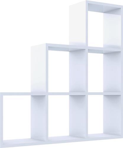 Ραφιέρες τοίχου & ΡάφιαPakoworldYaman λευκή 90x90x19,5εκ