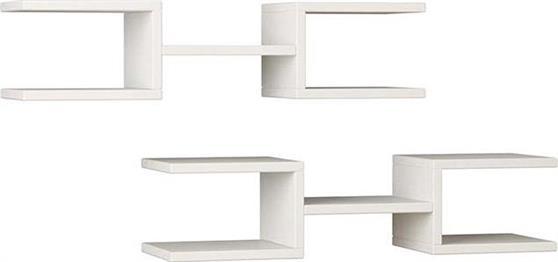 Ραφιέρες τοίχου & ΡάφιαPakoworldCrab Λευκό 75x22x17,5 Σύνθεση