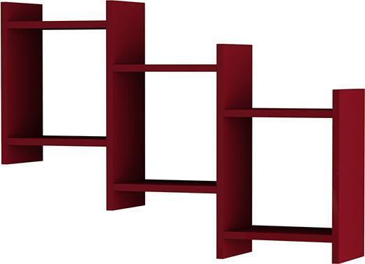 Ραφιέρες τοίχου & ΡάφιαPakoworldBatha Σκούρο Κόκκινο 91x20x64