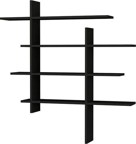Ραφιέρες τοίχου & ΡάφιαPakoworldCizgi No 1 Ανθρακί 120x20x125