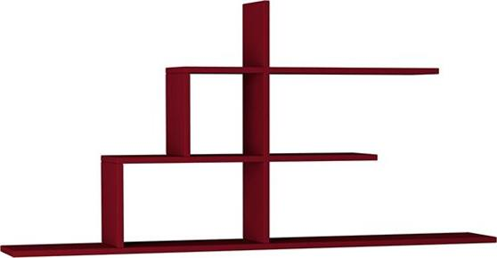 Ραφιέρες τοίχου & ΡάφιαPakoworldCizgi No 2 Σκούρο Κόκκινο 150x20x72,5