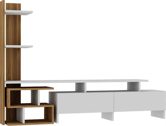 ΣύνθετοPakoworldBahar Λευκό-Walnut 170x30x120