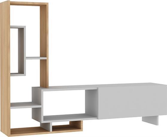 ΣύνθετοPakoworldPegai Λευκό-Teak 160x29,5x120