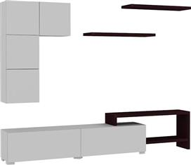 Pakoworld Platin Λευκό-Wenge 220x30x42