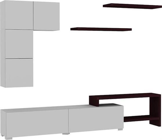 ΣύνθετοPakoworldPlatin Λευκό-Wenge 220x30x42