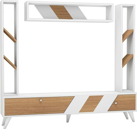 ΣύνθετοPakoworldRile TV Λευκό-Sonoma 180x30x160