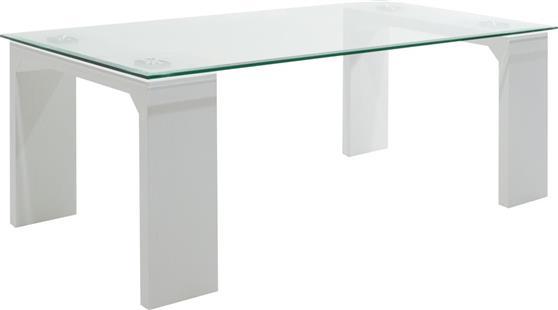 ΤραπεζάκιPakoworldGlass Line γυαλί & λευκό 100x60x42,5εκ