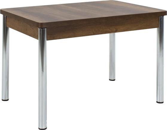 ΤραπέζιPakoworldΤραπέζι Flat καρυδί-χρωμίου 120x80x75εκ