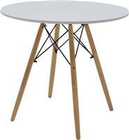 Pakoworld Τραπέζι Julita Φ80 λευκό