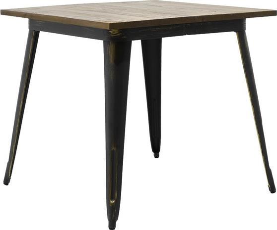 Τραπέζια Κήπου & ΒεράνταςPakoworldΜέταλλο & Ξύλο Utopia Anti-Black 80x80x75,5 (019-000048)