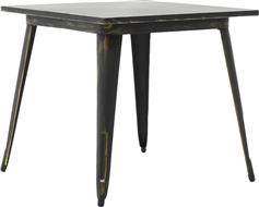 Pakoworld Τραπέζι μεταλλικό Utopia anti-black 80x80x75,5