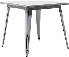 Pakoworld Τραπέζι μεταλλικό Utopia anti-white 80x80x75,5