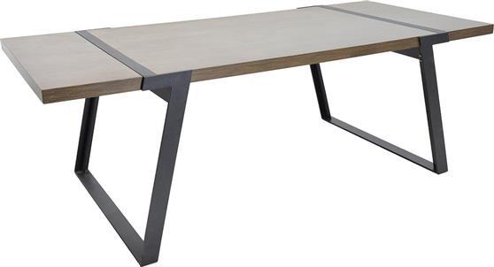 ΤραπέζιPakoworldΤραπέζι MOON μαύρο-cassia 220x100x74,5εκ