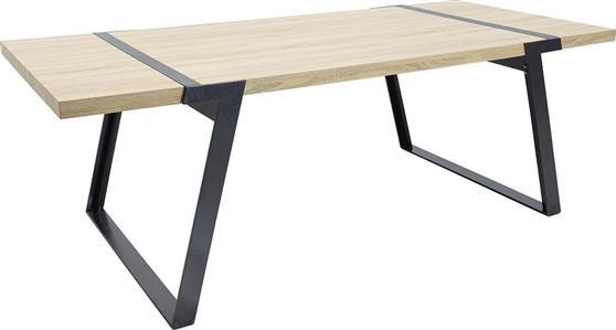 ΤραπέζιPakoworldΤραπέζι MOON μαύρο & δρυς 220x100x74,5εκ