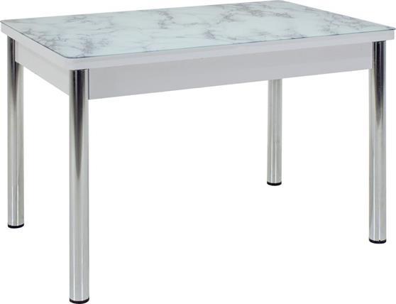 ΤραπέζιPakoworldΤραπέζι Napoli γυάλινο-χρωμίου 120x80x75εκ