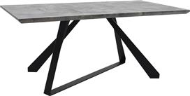 Pakoworld Τραπέζι Soho γκρι cement & μαύρο 180x90x75εκ