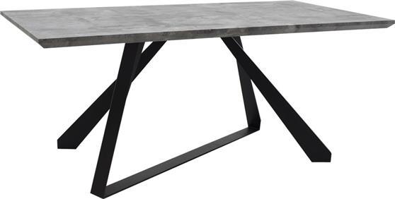 ΤραπέζιPakoworldΤραπέζι Soho γκρι cement & μαύρο 180x90x75εκ