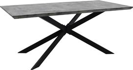 Pakoworld Τραπέζι Stylish γκρι Cement &μαύρο 180x90x75εκ