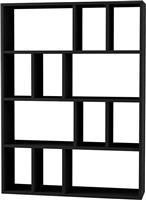 Pakoworld Βιβλιοθήκη Donie ανθρακί 90x25x122εκ