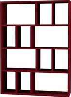 Pakoworld Βιβλιοθήκη Donie σκούρο κόκκινο 90x25x122εκ