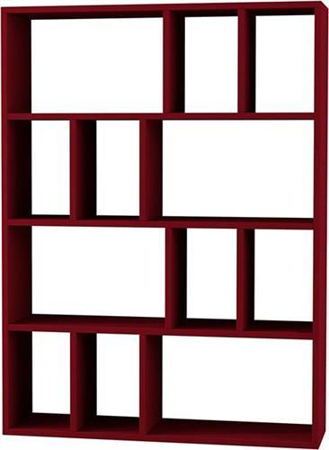 ΒιβλιοθήκεςPakoworldΒιβλιοθήκη Donie σκούρο κόκκινο 90x25x122εκ