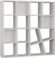 Pakoworld Βιβλιοθήκη Honey λευκό 125x24x125εκ