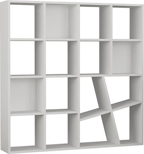 ΒιβλιοθήκεςPakoworldΒιβλιοθήκη Honey λευκό 125x24x125εκ