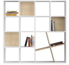 Pakoworld Βιβλιοθήκη Honey λευκό-φυσικό 125x24x125εκ