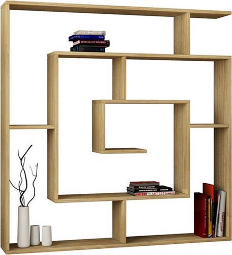 ΒιβλιοθήκεςPakoworldΒιβλιοθήκη Labirent oak-φυσικό 125x22x129εκ