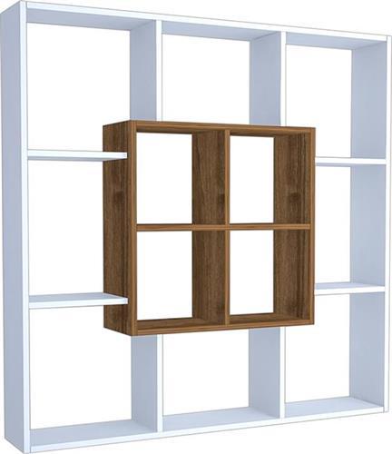ΒιβλιοθήκεςPakoworldΒιβλιοθήκη Leef λευκό-καρυδί 136x22x136