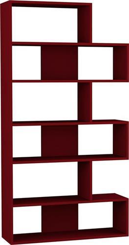 ΒιβλιοθήκεςPakoworldΒιβλιοθήκη Molly Ν.2 σκούρο κόκκινο 94x30x178,5εκ